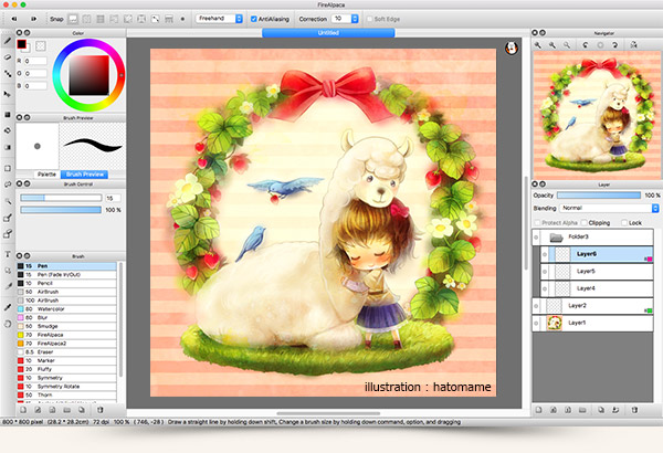 Free painting software firealpaca for Painting programs free download