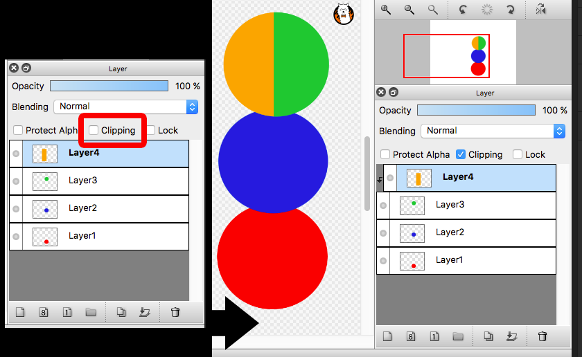 Diagram: Want to apply Clipping to Layer1, Layer2, Layer3 at once