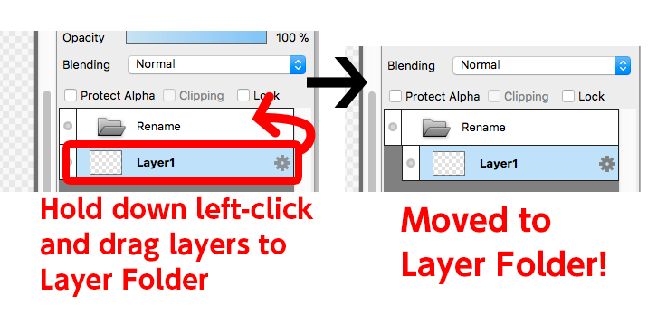 Diagram:Move layers into Layer Folder