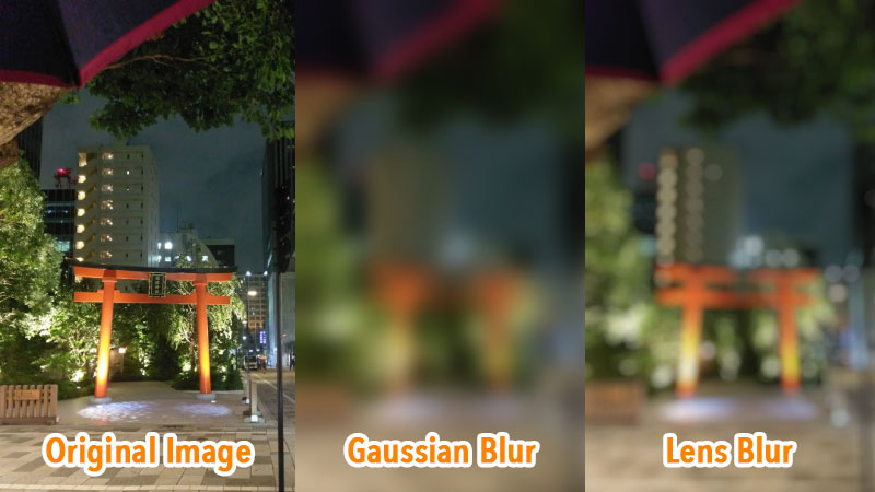 """Gaussian Blur"" and ""Lens Blur"""